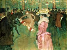 Henri de Toulouse-Lautrec (Albi, 1864 - Malromé Castle, Gironde, 1901) At the Moulin Rouge: The Dance (1890) The Philadelphia Museum of Art