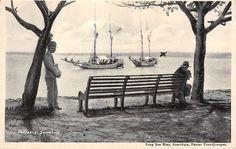 Nederlands-Indië Soerabaja Oedjong met schepen Surabaya Azië Indonesia (File House of Cards)