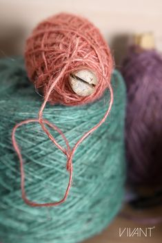Salmon, sea blue and lavender flaxcord as new color addition to Vivant's cord collection for Spring/Summer 2019 How To Make Rope, Cords, Twine, Salmon, Lavender, Spring Summer, Packaging, Joy, Colorful