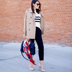 """kendi skeen on Instagram: """"You can't beat a stripes and trench classic combo. @liketoknow.it www.liketk.it/1UNFI #liketkit #kendieveryday #chicwish #everydaystyle"""""""