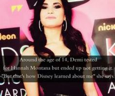 Didn't know this! wow I couldn't imagine her singing best of both worlds....