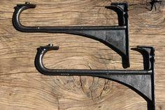 "13 3/4"" Reclaimed & Restored Industrial Cast Iron Sink Brackets"