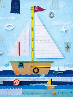 Sailboat Treasures Canvas Art