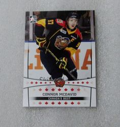 2014-15 CONNOR MCDAVID ITG ROOKIE CARD! ERIE OTTERS OHL / MINT. #EdmontonOilers