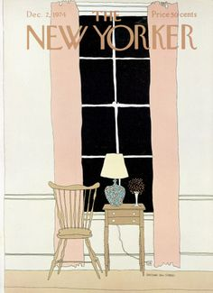 1974 Issue Gretchen Dow Simpson : Cover art for The New Yorker 2598 - 2 December Dow Simpson : Cover art for The New Yorker 2598 - 2 December 1974 The New Yorker, New Yorker Covers, Magazine Art, Flow Magazine, Magazine Covers, Beautiful Cover, Transformers Art, Book Cover Art, Watercolor Drawing