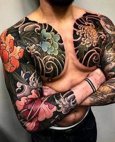 """6,841 Likes, 37 Comments - Japanese Ink (@japanese.ink) on Instagram: """"Japanese tattoo sleeves by @mark_corliss_tattoo. #japaneseink #japanesetattoo #irezumi #tebori…"""""""