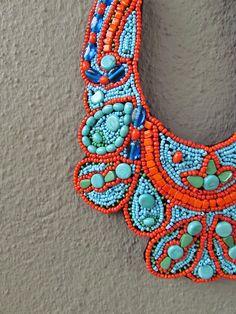 beaded collar | Redinfred
