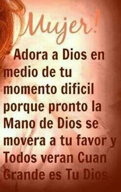 Dios Mío!  Te day las gracias por todo lo que das y por todo lo que me quitas. Tan sólo tú,  mi Dios sabes lo que es lo mejor para mi y tu gloria!  Te amo, Dios mío!   Amén