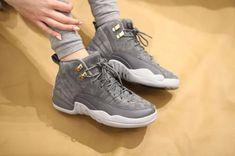 "Women's Air Jordan 12 Retro (GS) ""Wolf Grey"" Style: 153265-005 Jordans Sneakers, Air Jordans, Grey Style, Air Jordan 12 Retro, Grey Fashion, Huaraches, Nike Huarache, Wolf, Shoes"