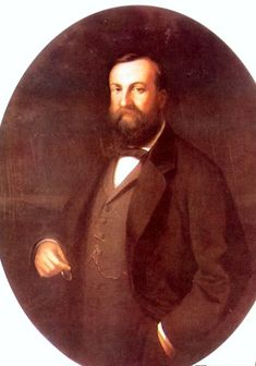 E. Cano_Antonio de Orleans (1824-90)Duke of Montpensier and infant of Spain. Youngest son of King Luis Felipe I of France×María Amelia de Borbón-Dos Sicilias, and married mater.2nd cousin Infanta Luisa Fernanda de Borbón, daughter of King Fernando VII of Spain×⁴/⁴ wife niece Maria Christine Neapol-Sicily and sister of Queen Isabel II, who granted the Duke of Montpensier the title of infant of Spain_Royal Palace Riofrio