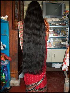 my sister-in-law long dark silky hair style show on me Bun Hairstyles For Long Hair, Braids For Long Hair, Long Hair Cuts, Indian Hairstyles, Girl Hairstyles, Long Hair Styles, Long Silky Hair, Super Long Hair, Thick Hair