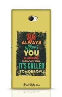 Life Always Offers You A Second Chance It Is Called Tomorrow Sony Xperia M2 Phone Case