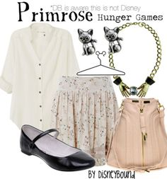 Heart Primrose style inspiration from Hunger Games.