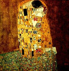 Gustav Klimt, The Kiss (Art Nouveau: 1907-08)