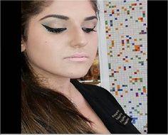 Delineador poderoso e boca nada na maquiagem do Beauty Team da NYX do Shopping Center 3