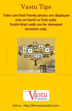 Vastu Tips to Hang Family photos for Positive Effects. Take care that Family photos are displayed only on North or East walls. South-West walls are for deceased ancestors only. Feng Shui And Vastu, Feng Shui Tips, Indian House Plans, Feng Shui House, Pooja Room Design, Vastu Shastra, Puja Room, Indian Homes, Budget