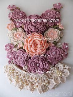 colar, colares, croche, colares de croche, flores, flores de croche