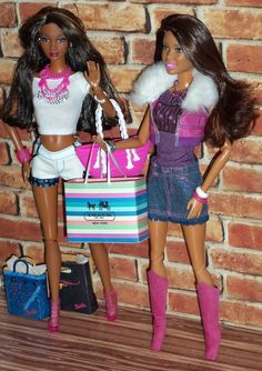 Black Barbie friends featuring Fashionista Nikki and So In Style (SIS) Grace - OOAK style by Aneka
