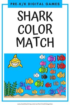 Students will choose and drag the 5 fish that match the color of the shark shown. 11 colors included. Use these task cards as a fun center to improve math skills in preschool and kindergarten. This digital resource is compatible with google classroom and seesaw and perfect for distance or homeschooling.  #digital #boom #task cards #math #count #number #pre-k #preschool #kindergarten #shark #ocean #sea #summer #animal #fish #color #rainbow #match Preschool Kindergarten, Learning Activities, Preschool Activities, Educational Activities, Circle Time Games, Easy Arts And Crafts, Fun Games For Kids, Interactive Learning, Seesaw