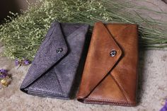 Womens leather walletvintage walletleather by MagicLeatherStudio