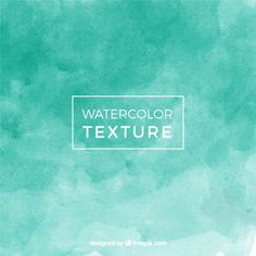 Green abstract watercolor background effect Free Vector