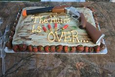 Cute cake for a grooms cake, or engagement party. Or for a lot of things.