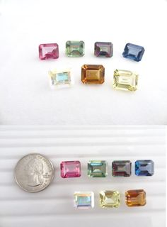 Topaz 10270: Loose 12X10mm Emerald Cut Mystic Topaz ~7 Colors Avail. BUY IT NOW ONLY: $31.0