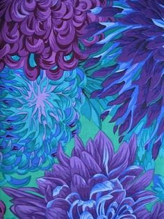 Purple and Turquoise Japanese Chrysanthemum