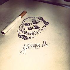#skull #drawing #drawing #draw #mexicanskull #ink #inked #france #girltattoo #ideastattoo #lille #blackarttattoo #tattoo #tatouage