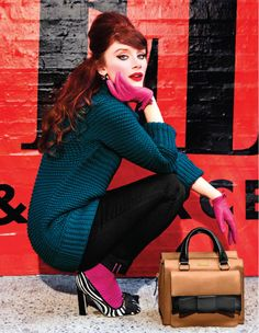 Hot pink, deep teal, stripes & zebra! Perfection! From Kate Spade's Fall 2011 collection!