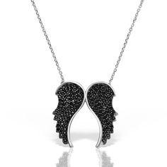Colier argint cu pietre 42 cm Inger & Aripi - MCN0033 Silver, Jewelry, Jewlery, Jewerly, Schmuck, Jewels, Jewelery, Fine Jewelry, Jewel