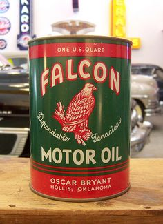 Falcon Motor Oil - via Colby Thueson