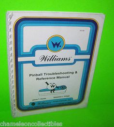 1986 WILLIAMS PINBALL MACHINE TROUBLESHOOTING & REFERENCE MANUAL COMET SORCERER STAR LIGHT SPACE SHUTTLE #PinballMachine #PinballRepair #WilliamsPinball