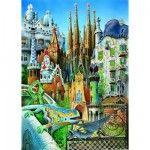 Puzzle 1000 pièces - mini - Gaudi : Collage