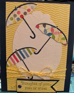 Memory Box Petite umbrella.  Otherwise, all Stampin' Up products.