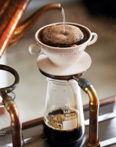 Drip Coffee<<<<<<<<<<<<<<<<<<< previous pinner, this isn't drip coffee, it's a pour over. Drip coffee is brewed from a coffee machine like Mr. Coffee or a Keurig. Coffee Is Life, I Love Coffee, Coffee Art, Drip Coffee, Coffee Break, My Coffee, Coffee Drinks, Coffee Shop, Coffee Cups