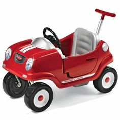 Cute!! Radio Flyer® Steer and Stroll Kids Coupe is a classic car designed so that adults can push it, kids can scoot themselves along while sitting in it, or kids can push it. Either way, its durable plastic body and sturdy design withstands hours of playtime. From jcp.com.