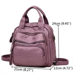 Women PU Soft Multi-function Bags Leisure Handbags Large Capacity Backpack is designer, see other popular bags on NewChic Mobile. Fashion Handbags, Fashion Bags, Fashion Backpack, Fashion Women, High Fashion, Leather Clutch Bags, Leather Handbags, Women's Handbags, Backpack Online