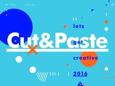 Cut&Paste: Is Alive!  Super excited to share the latest development in the Let's get creative 2016 project. First of all want to say thanks to all the motion/Animators that contacted me about w...