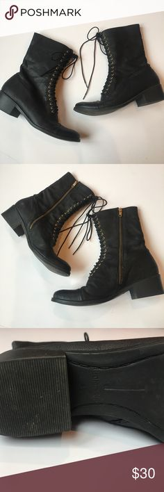Dolce Vita Boots Dolce Vita for Target black boots with gold eyelets. Size 5 1/2. A great staple for your collection!! Dolce Vita Shoes Lace Up Boots