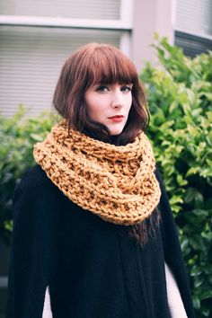 The Kensington - A Knitted Infinity Scarf / Cowl