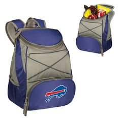 Buffalo Bills Ptx Backpack Cooler by Picnic Time - Navy