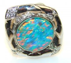 Solar Auras Fire Opal Sterling Silver ring s. 7