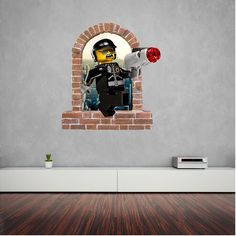 Good Cop Bad Cop brick window wall decal and stickers. Wall Decal Sticker, Wall Stickers, Good Cop Bad Cop, Window Wall, Brick, Windows, Wall Clings, Wall Decals, Bricks