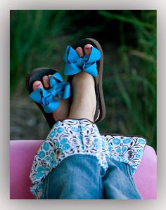 Boutique Hairbow FlipFlop Clips!
