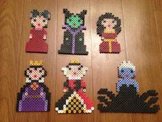 Disney Villains Perler Bead Sprites (Full set)
