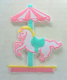 Baby Patch Carousel Horse Merry Go Round Green Yellow Pink Iron Applique Embroidered Cute Sew Pcs Badge Patches Craft Girl Mix Appliques 5 4 Infant Diy Garment Sewing 2 New Jacket Patches Emblem Upick Nation Trim X3 Standard Logo Motif Appliques Cloth Embroidery Rose Trim Embellished Embellishments Embroider Embellish Style Colorful Added Addition >>> You can find out more details at the link of the image.