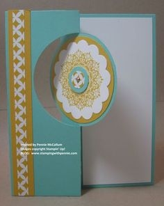 Cirle Flip Card - front, visit my blog www.stampingwithpennie.com to view the inside and see more