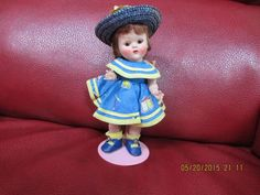 GORGEOUS VINTAGE VOGUE STRUNG GINNY DOLL WEARING ZIPPER SERIES OUTFIT, COMPLETE #DollswithClothingAccessories