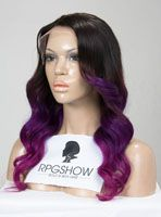 Full Lace Wigs|Lace Front Wigs|Lace Wigs @ RPGSHOW Stock Purple Ombre Color Full Lace Wig - QW003-s [QW003] - Real product photo info: hair color: #2 to Purple hair length: 18